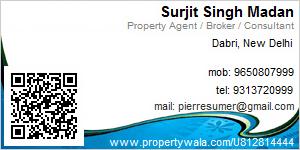 Surjit Singh Madan - Visiting Card