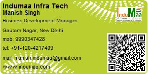 Visiting Card of Indumaa Infra Tech