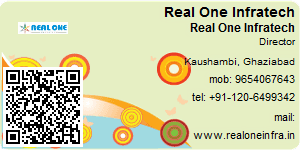 Visiting Card of Real One Infratech