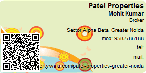 Visiting Card of Patel Properties