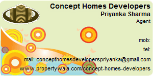 Visiting Card of Concept Homes Developers