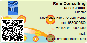 Visiting Card of Rine Consulting
