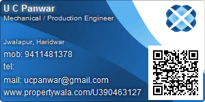 U C Panwar - Visiting Card