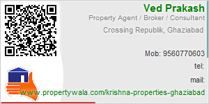 Visiting Card of Krishna Properties