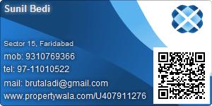 Sunil Bedi - Visiting Card