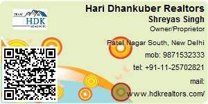 Visiting Card of Hari Dhankuber Realtors Pvt ltd