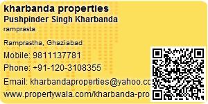 Visiting Card of kharbanda properties