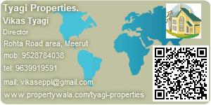 Visiting Card of Tyagi Properties.