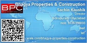 Visiting Card of Bhagya Properties & Construction