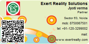 Visiting Card of Exert Reality Solutions