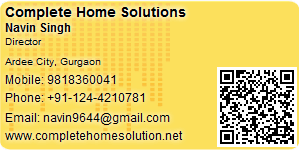 Visiting Card of Complete Home Solutions