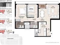 2 BHK Unit Plan.
