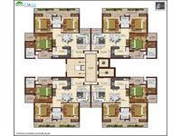 3BHK 1450 Sq Ft Cluster Plan