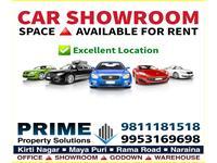 Showroom for rent in Shivaji Marg, New Delhi