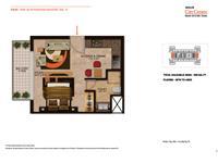 Studio Apartment - Type D -595 Sq Ft