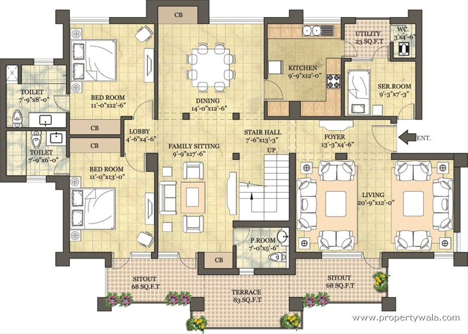 Vipul greens nh 5 bhubaneswar residential project - Lay outs penthouse ...