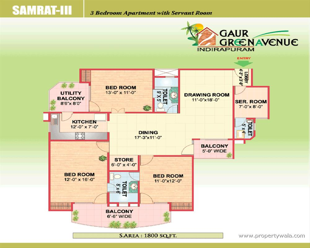 Gaur Green Avenue - Indirapuram, Ghaziabad - Apartment