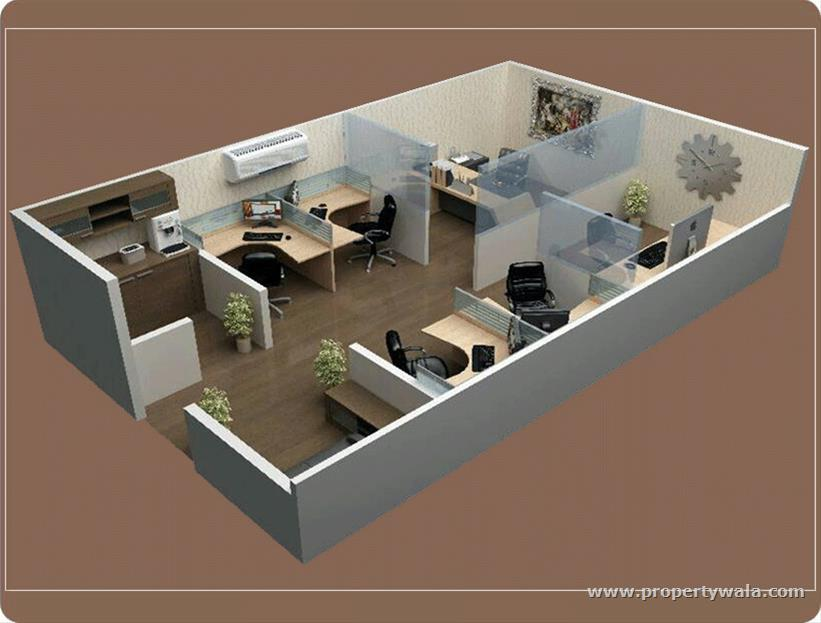 Ncr auriel towne noida extension greater noida for Office design 1000 square feet