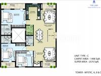 3 Bedroom Flat for sale in Omaxe The Lake, Mullanpur, Mohali