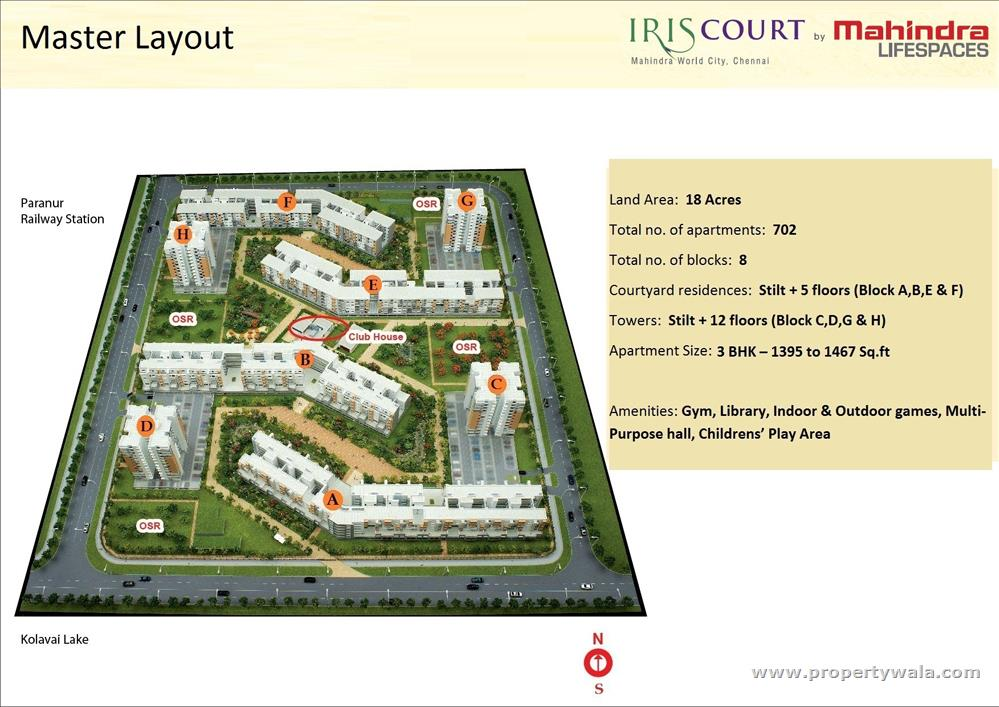 Mahindra iris court mahindra world city kanchipuram apartment master plan location map gumiabroncs Gallery
