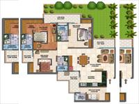 3 BHK - 1970 Sq. Ft. +Lawn area 350 Sq. Ft.