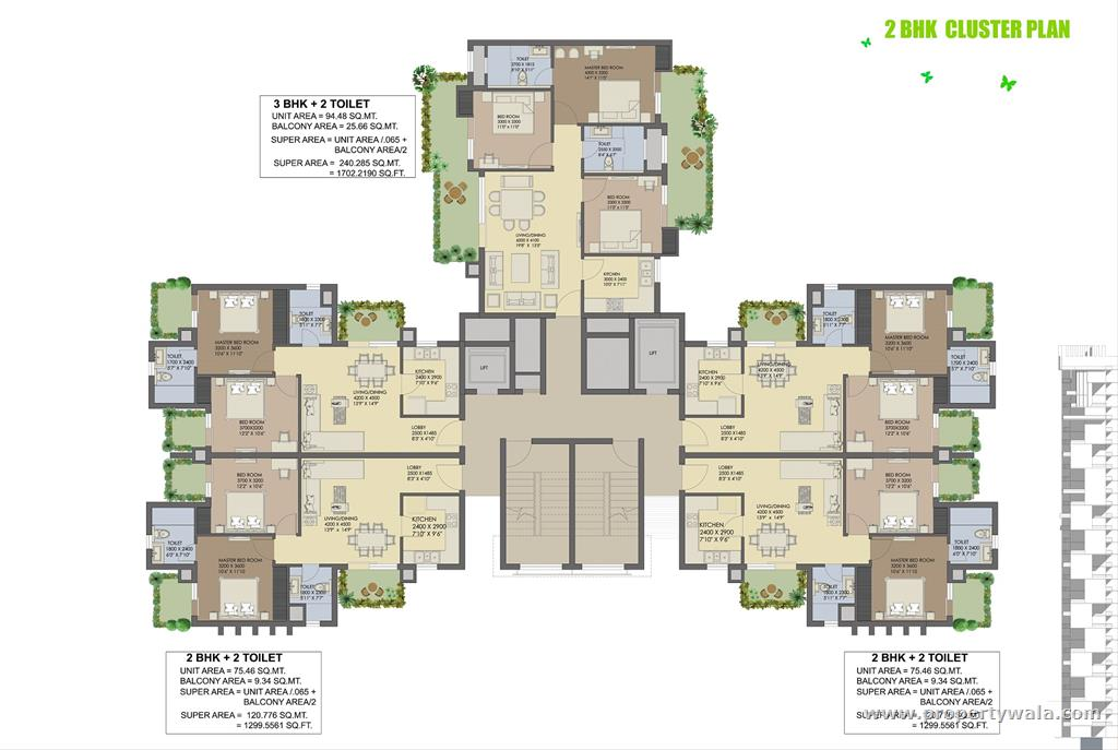 Cluster House Plans Agrante Beethoven 8 Sector 107 Gurgaon