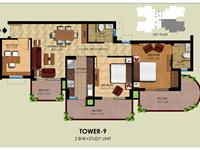 2BHK+ Study Floor Plan