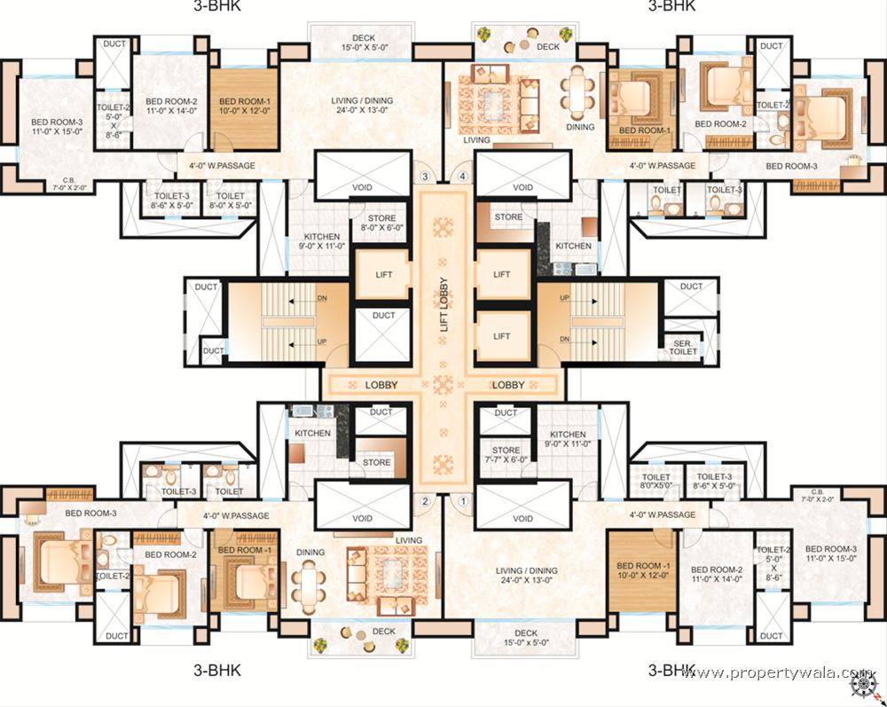 Hiranandani estate rodas enclave hiranandani meadows for Floorplan com