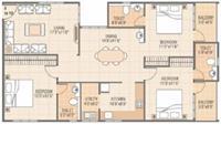 3BHK - Floor Plan - A