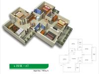 4 BHK+2T Area