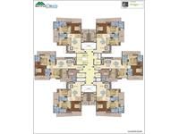 4BHK, 2105 sq. ft. Cluster Plan
