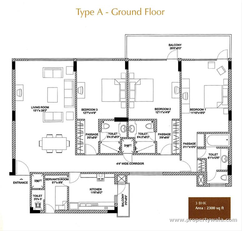 Luxury  Floor Plan Ground Floor Type A