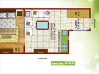 1BHK Typical Floor Plan