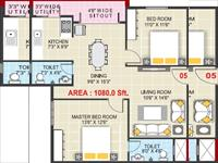 2BHK - 1080 Sq Ft.