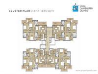 3 BHK Cluster Plan