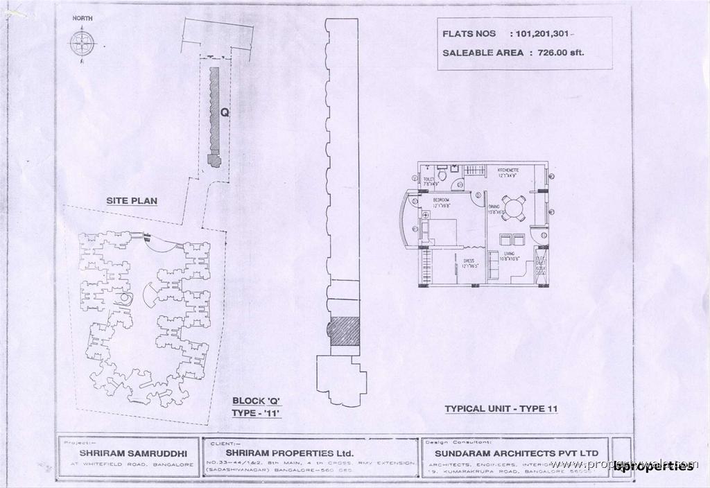 Shriram samruddhi brooke field bangalore apartment for 1 bhk floor plan