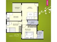 2BHK - 715 Sq. Ft.