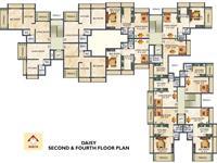 Daisy 2nd & 4th Floor Plan