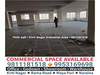 Office Space for rent in Kirti Nagar Industrial Area, New Delhi