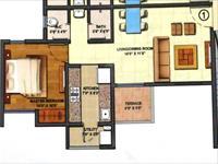 1BHK Floor Plan