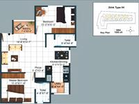 2BHK - 1000 Sq. Ft.