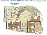 Unit Plan 7450 SqFt (Lower Pent House)