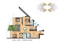 Unit A - 3BHK Floor Plan