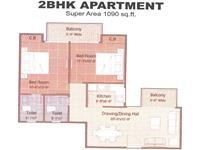 2BHK - 1090 Sq. Ft.