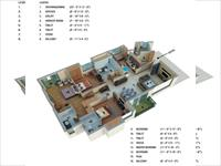 3 BHK - 1900 Sq. Ft.