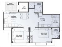 Floor Plan : 2 BHK (119 Sqyd)