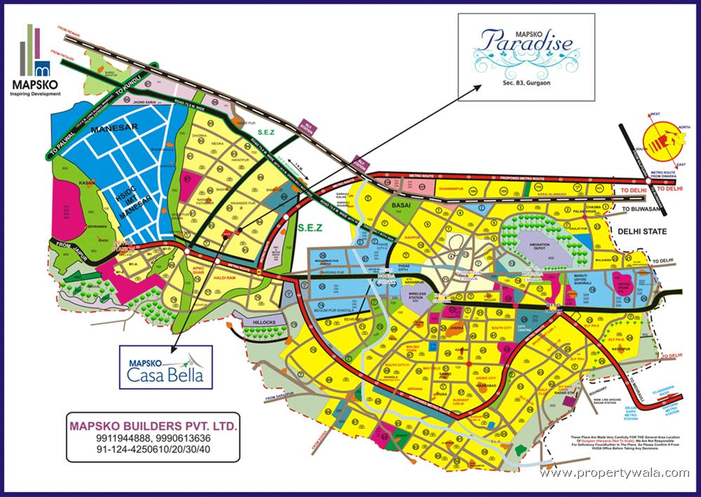 Mapsko Paradise Sector 83 Gurgaon Residential Project