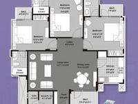 Deluxe 1BHK Floor Plan