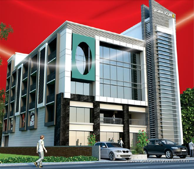 Office Building Elevation : Sigma icon ii ring road ahmedabad office space