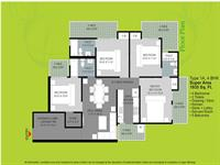4 Bhk Super Area-1935 sq. ft.